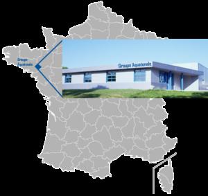 Carte situant le groupe Aquatonale en France